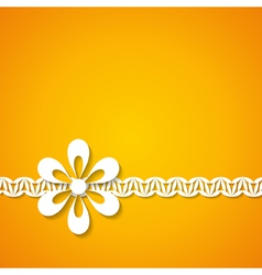 Orange background with a floral border vector