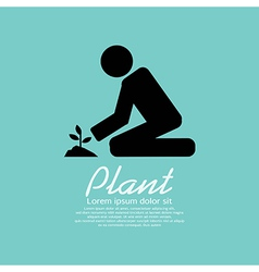 Planting vector image vector image