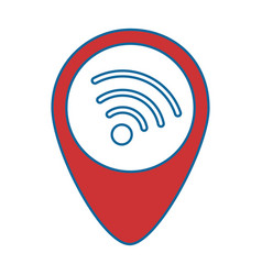 pointer location with wifi signal vector image
