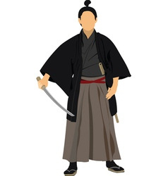 Samurai sword vector