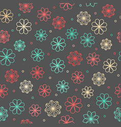 seamless hipster floral pattern vector image