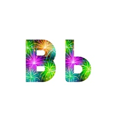 Set of letters firework B vector image vector image