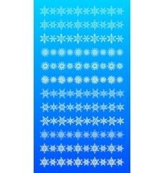 Set of scribble snowflakes borders vector image