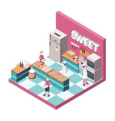 sweet shop kitchen isometric vector image vector image