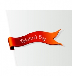 Valentine's day ribbon vector image vector image