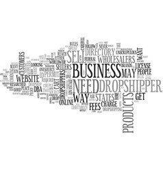 What you need to be a dropshipper text word cloud vector