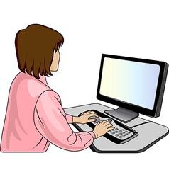 Woman-programmer vector