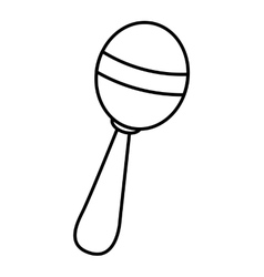 Maracas instrument tropical isolated icon vector