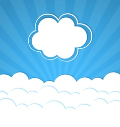 Abstract background with Rays and clouds vector image