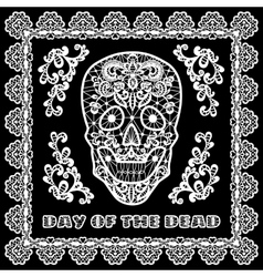 Lace skull card vector