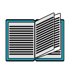 Isolated open book design vector image