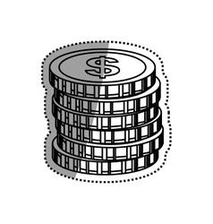 Coins money isolated vector