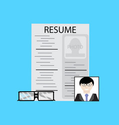 Employment job candidate vector