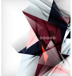 Color triangles unusual abstract background vector