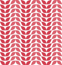 Seamless pattern with red leaves vector