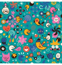 Fun cartoon pattern 6 vector