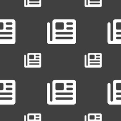 Book newspaper icon sign seamless pattern on a vector