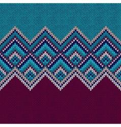 Seamless Pattern Knit Woolen Trendy Ornament vector image