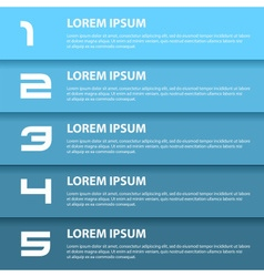 Blue modern design business horizontal banners vector