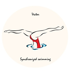 showing a Summer Olympic Sport vector image