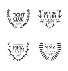 Fight club logo set vector image