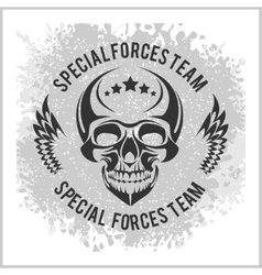 Emblem with skull vector image