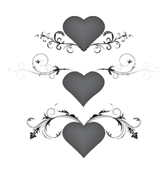 Heart with floral vector
