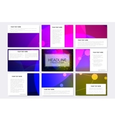 Big set of templates for presentation vector