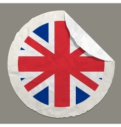 English flag on a paper label vector