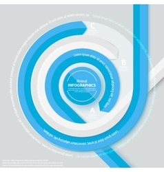 Blue circle ribbon infog-raphics vector image
