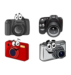 Cartoon digital cameras vector image