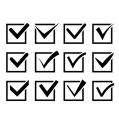 Check mark icon set vector