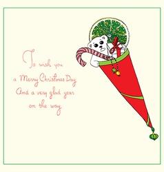 Christmas cornet vector