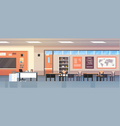 Classroom interior empty modern school class with vector