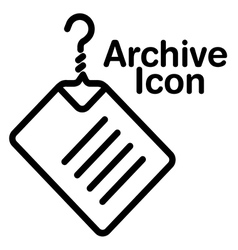 Coat hanger doc archive vector