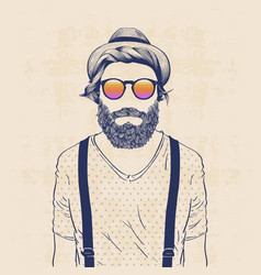 Cool hipster vector