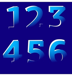 Cut-Off Numbers vector image vector image
