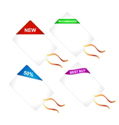 Discount shopping tags set vector