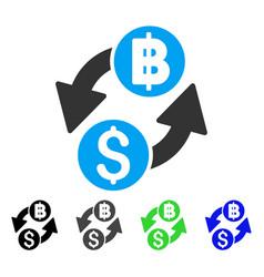 Dollar baht exchange flat icon vector