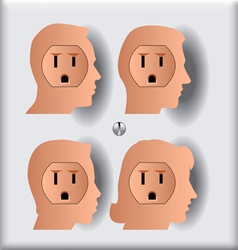 Electrical Socket People Silos vector image