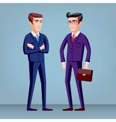 elegant young man in business suit vector image
