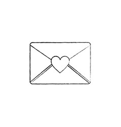 envelope message greeting heart love romantic vector image vector image