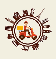 food delivery design vector image