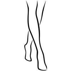 Graceful barefoot female feet vector