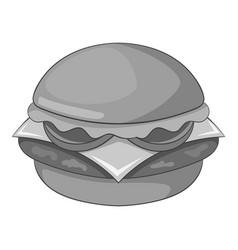 hamburger icon monochrome vector image