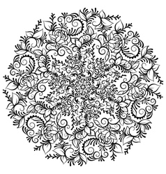Hand drawn ornate fantasy flower in the crown of vector