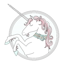 hand drown cute Unicorn vector image
