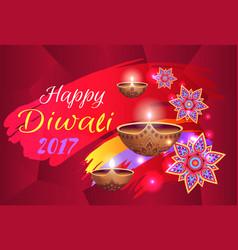 happy diwali 2017 festival vector image