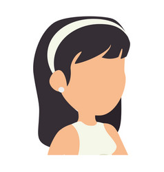 Isolated cute upperbody wife vector