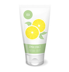 Lemon cream white tube vector